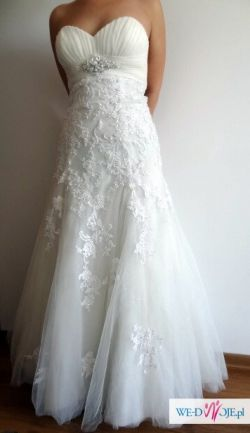 Suknia ślubna demetrios model 1416, Lisa Ferrera, r. 38