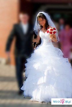 Suknia ślubna DIAMANTE + suknia na przebranie PARADISE ( Emmi Mariage 2009 )
