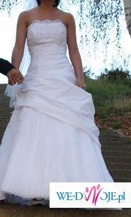 Suknia ślubna dla drobnej kobietki