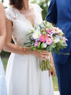 Suknia ślubna dla filigranowej niewysokiej osoby