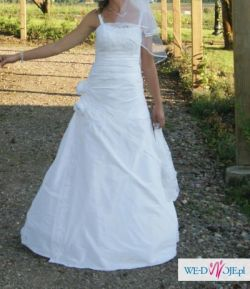 Suknia ślubna dla wysokiej osoby + buty
