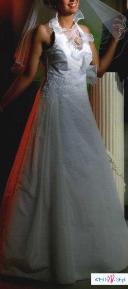 suknia ślubna, długa, 36-38