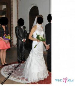 Suknia ślubna Donna Annais  z trenem