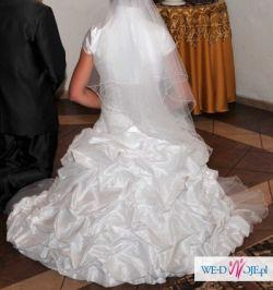 Suknia ślubna DUBER model 927 w kolorze bieli