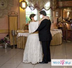 Suknia ślubna duża (XXL) rozmiar 52-54 ECRU (po czyszczeniu)