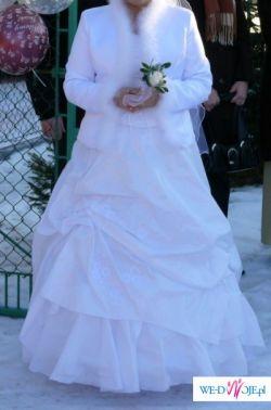 Suknia ślubna  dwu częściowa