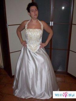 Suknia ślubna eccru wg własnego projektu