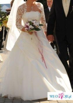 suknia ślubna ecri- niepowtarzalna