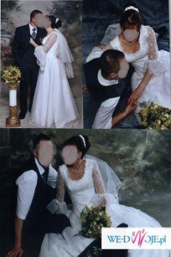 Suknia ślubna ecri (stan idealny)