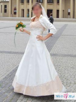 Suknia ślubna ecru 34, 36, 38 Duber, model z 2010 roku, gratisy