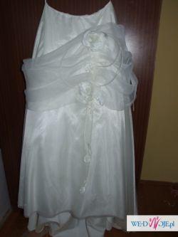 suknia ślubna ecru 38 styl-Anna Skrzyszowska