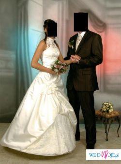 Suknia ślubna ecru
