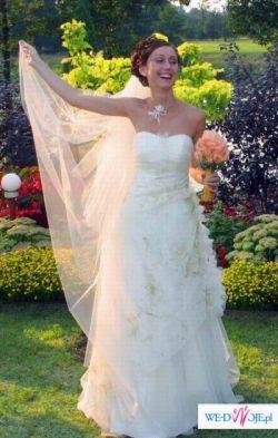 Suknia ślubna ecru - Anna Skrzyszowska-Mielczarek