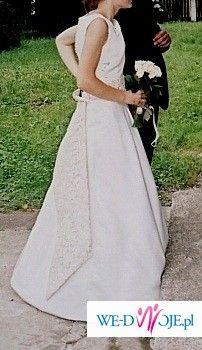 Suknia Ślubna, Ecru, Autorski projekt