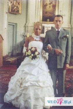 Suknia ślubna ecru bardzo elegancka