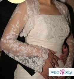 Suknia ślubna ecru - dodatki gratis!