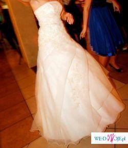 Suknia ślubna ecru (GRATIS: welon i halka)