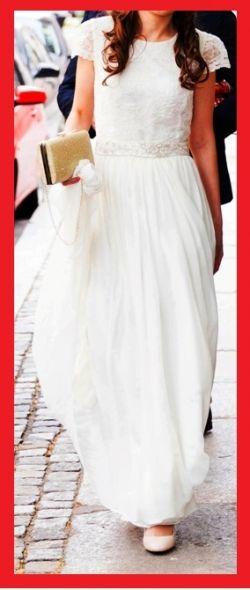 Suknia ślubna ecru lekka zwiewna jedwab koronka jak agnieszka światły anna kara 2016 wrocław