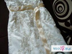 suknia ślubna ecru plus bolerko