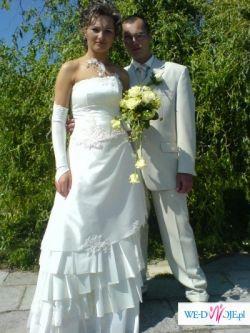 suknia ślubna ecru, rozmiar 38
