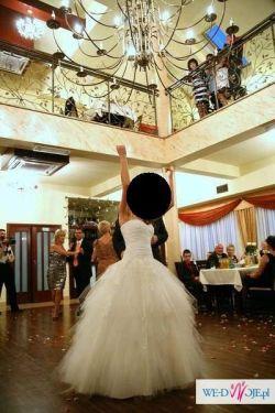 Suknia Ślubna Ecru Tiulowa 36-38
