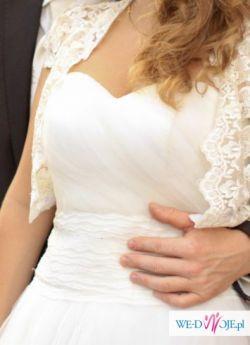 suknia ślubna ecru tiulowa 38