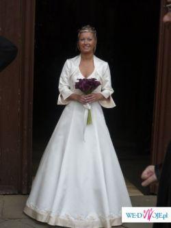 Suknia ślubna ecru z capuccino
