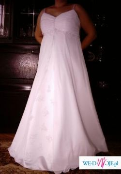 Suknia ślubna, elegancka, 3-metrowy welon gratis