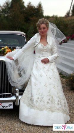 suknia ślubna elegancka retro koronka!!!