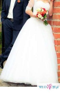 Suknia ślubna Elizabeth Passion model E-2516T z trenem, rozmiar 36.