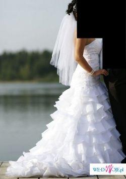 SUKNIA ŚLUBNA EMMI MARIAGE AMELIA 2009 + BIŻUTERIA GRATIS