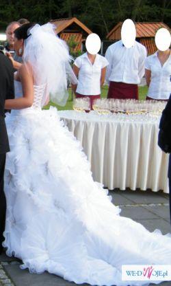 SUKNIA ŚLUBNA  EMMI MARIAGE FLOWER  2011 ROZM 36/38+ SWAROVSKI