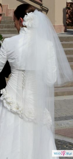 Suknia ślubna Ever Farage r.38 + bolerko i ozdoba do włosów
