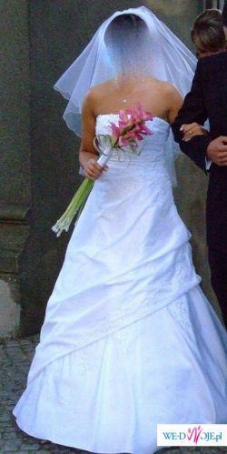 Suknia Ślubna EVITA HERM'S rozmiar 38 biała