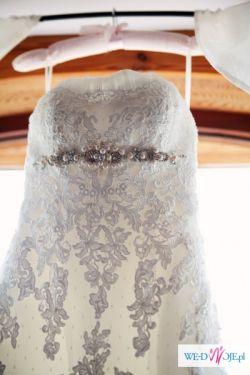Suknia ślubna FAMOSA koronkowa syrenka jak PRONOVIAS SILABA 34/36