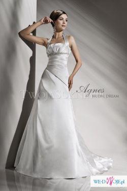 Suknia ślubna firmy Agnes wyszczuplająca! rozmiar 38-40