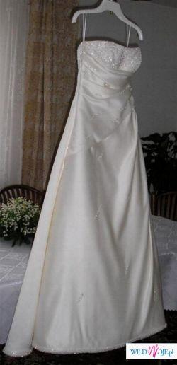 suknia ślubna firmy Annais Bridal model Angie w kolorze ecru