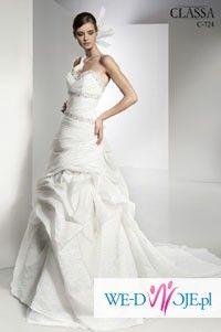 Suknia Ślubna Firmy CLASSA (mod C-724) rozm. 38-40, miseczka D