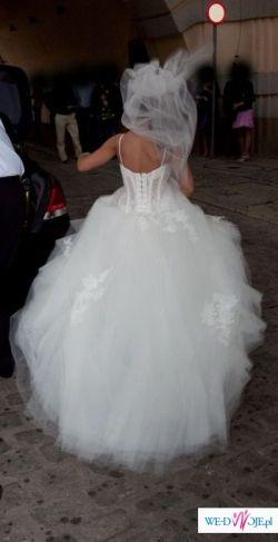 Suknia ślubna firmy CYMBELINE model COLOMBE rozm. 36-38