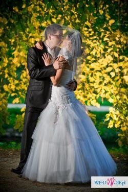 Suknia ślubna firmy MS MODA model Chelsie (z 2012r) kolor biały