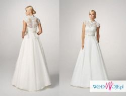 Suknia ślubna gala bianka kolor ivory r. 36-38 + gratis opaska