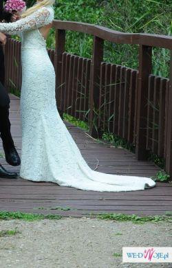 Suknia ślubna gipiura, wyjątkowa JEDYNA La sposa, Pronovias
