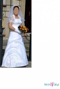 suknia slubna - gorset, spódnica i bolerko