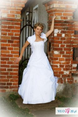 suknia ślubna gratis stroik na samochud