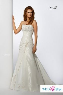 Suknia ślubna Herm's Linsor 34 ecru, gratisy,