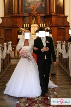 Suknia ślubna Herms Lirista plus musznik i kamizelka