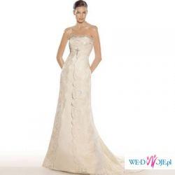 Suknia ślubna hiszpańskiej firmy VILLAIS. Model derby z 2008 roku