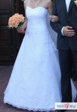 Suknia ślubna inspirowana Christiną Annais Bridal roz. 36/38 + gratisy!