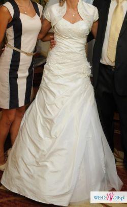 Suknia ślubna jednoczęściowa, biała