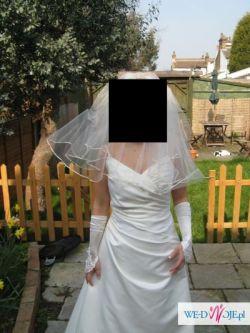 Suknia slubna jednoczesciowa koloru ivory rozmiar 42-44